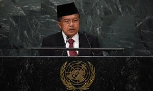 Indonesia's vice-president, Muhammad Jusuf Kalla