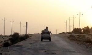 Egyptian military vehicle