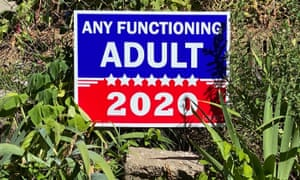 A sign expresses electoral frustration in a front yard in Minneapolis, Minnesota.