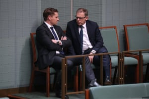 Andrew Hastie and Anthony Byrne after question time