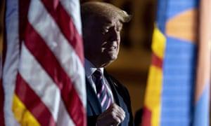 Donald Trump in Phoenix, Arizona Monday.
