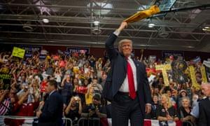 Donald Trump on the campaign trail in the rust belt: Ambridge, Pennsylvania, 2016