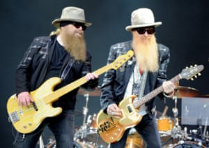Billy Gibbons and Dusty Hill of ZZ Top … Bringing the blues.