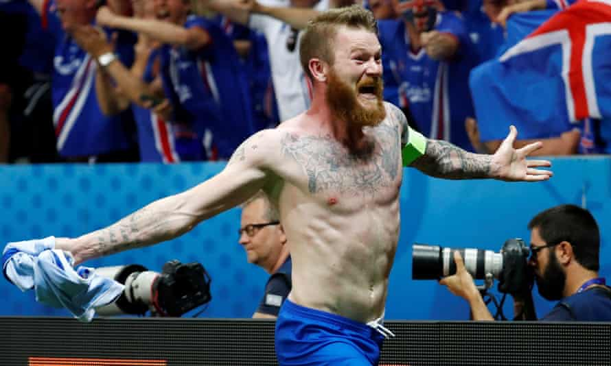 Aron Gunnarsson of Iceland and Cardiff