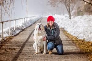 Tasha Hall and her dog