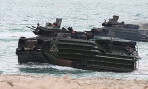 The US military has used amphibious assault vehicles since 1972.