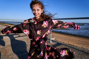 Willow wears rose-print dress, £735, MSGM matchesfashion.com