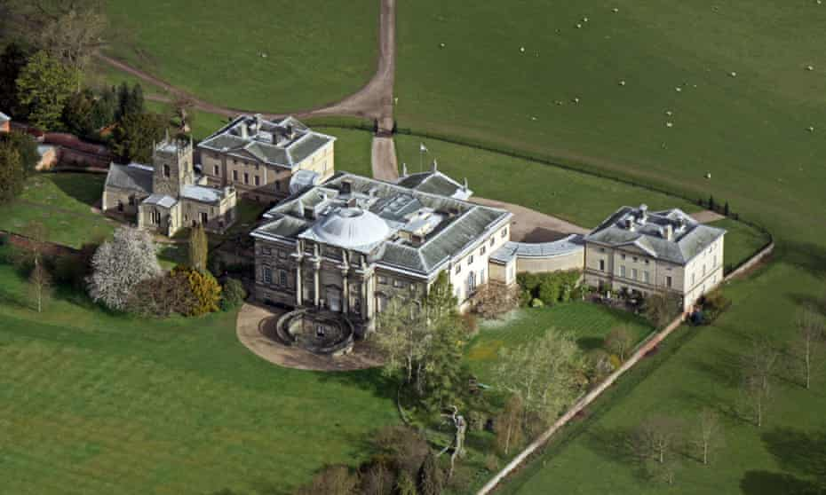 Aerial view of Kedleston Hall in Derbyshire