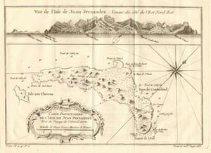 A 1758 map of Robinson Crusoe Island.