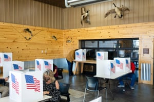 Residents cast their votes on election day in Granger, Iowa.
