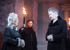 Judi Dench plays Paulina and Kenneth Branagh plays Leontes in The Winter's Tale