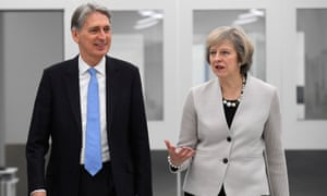 Theresa May And Philip Hammond Visit Renishaw Innovation and Engineering Plant, Wootton
