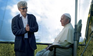 Preaching to the believers … Wim Wenders with the pope in Pope Francis: A Man of His Word.