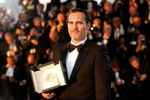 """Actor Joaquin Phoenix, Best Actor award winner for his role in the film """"You Were Never Really Here"""""""