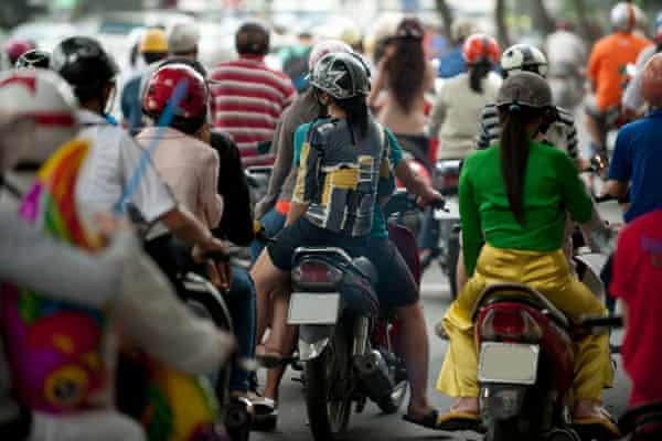 Motorcycle traffic, Ho Chi Minh City, Vietnam