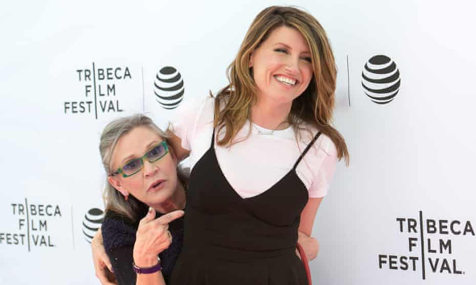 Carrie Fisher and Sharon Horgan at the Tribeca film festival in 2016.