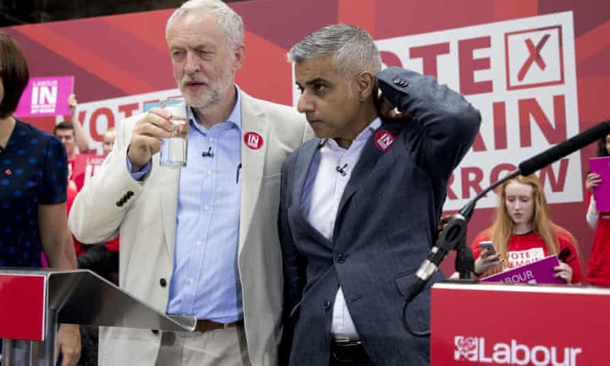 Labour's Jeremy Corbyn and Sadiq Khan