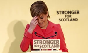 Nicola Sturgeon laughs off the insults and gets on with the SNP campaign.