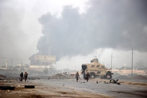 Battles at the port city of Hodeidah