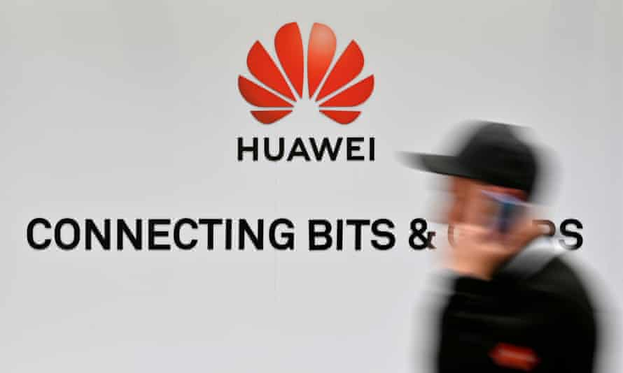 Huawei display at the Hanover Messe technology fair.