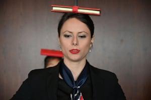 Miona Milakov teaches the children deportment
