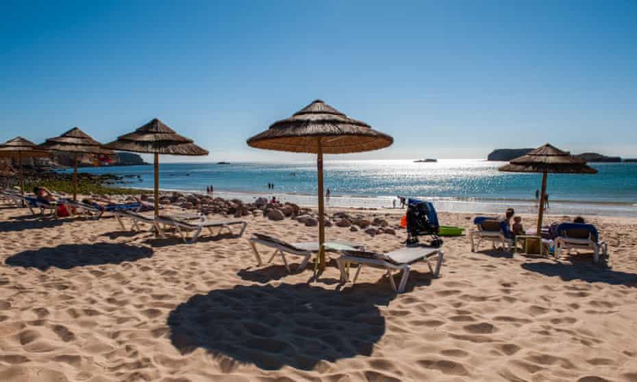 Beach in Sagres, Algarve, Portugal.