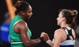 Serena Williams and Simona Halep after their battle.