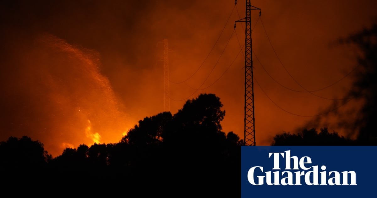 Wildfires raging across south-west Sardinia force evacuations – video