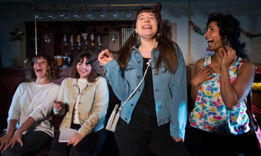 Fierce … from left, Emily Spowage as Andrea Dunbar and Lucy Hird as her younger self, Claire-Marie Seddon and Balvinder Sopal.