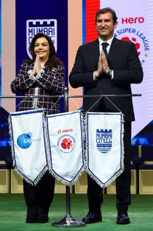 The City Football Group CEO, Ferran Soriano, at an event after Mumbai City joined its list of clubs.