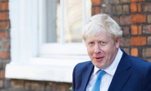 New Conservative Party leader and incoming prime minister Boris Johnson leaves his campaign office in central London on July 23, 2019