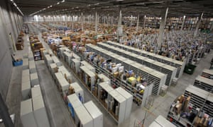 Amazon accused of treating UK warehouse staff like robots