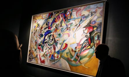 Composition VII by Wassily Kandinsky at the Tretyakov Gallery.