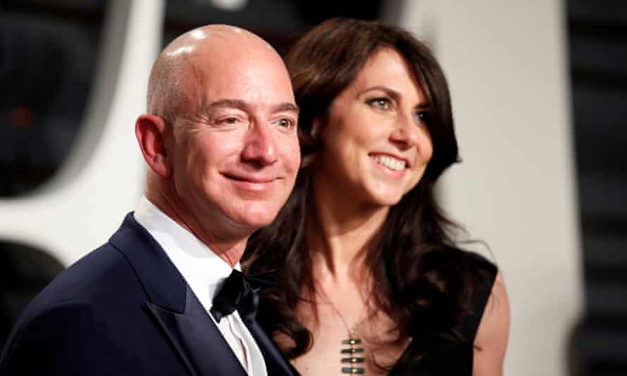 Amazon's founder, Jeff Bezos, with his former wife MacKenzie in 2017