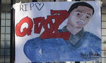 A tribute left outside Capital City Academy.