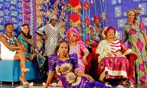 Les Amazones d'Afrique: left to right, Mariam Koné, Nneka, Mouneissa Tandina, Rokia Koné, Mariam Doumbia, Pamela Badjogo, Kandia Kouyaté and Mamani Keïta.