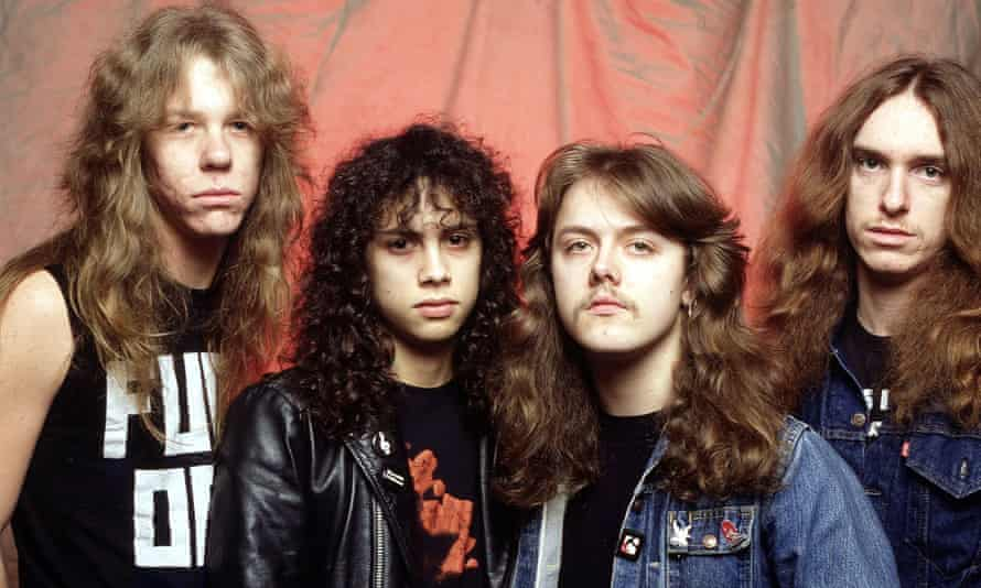 Metallica, pictured in 1984, between the releases of Kill 'Em All and Ride the Lightning. From left: James Hetfield, Kirk Hammett, Lars Ulrich and Cliff Burton.