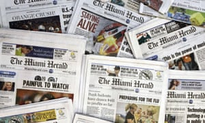 McClatchy publishes the Miami Herald, Kansas City Star and dozens of other newspapers.