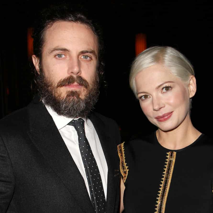 Casey Affleck and Manchester by the Sea co-star Michelle Williams at the New York Film Critics Circle Awards.