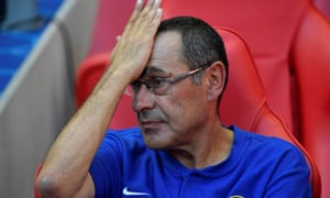 Maurizio Sarri has enough to think about Chelsea's match at Huddersfield. weekend.