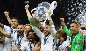 Real Madrid celebrate with the Champions League trophy after beating Juventus in Cardiff last season. The holders – preparing for a fourth final in five years – have a habit of making everyone feel inferior.