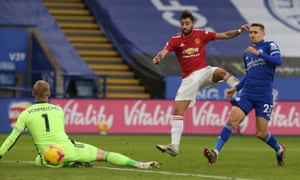 Bruno Fernandes of Manchester United scores their second goal .