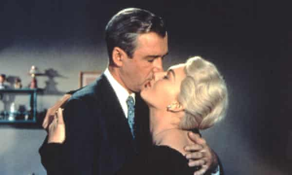 A kiss is just a kiss? James Stewart and Kim Novak in Vertigo.