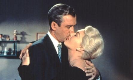 A kiss is just a kiss? James Stewart and Kim Novak in Vertigo.