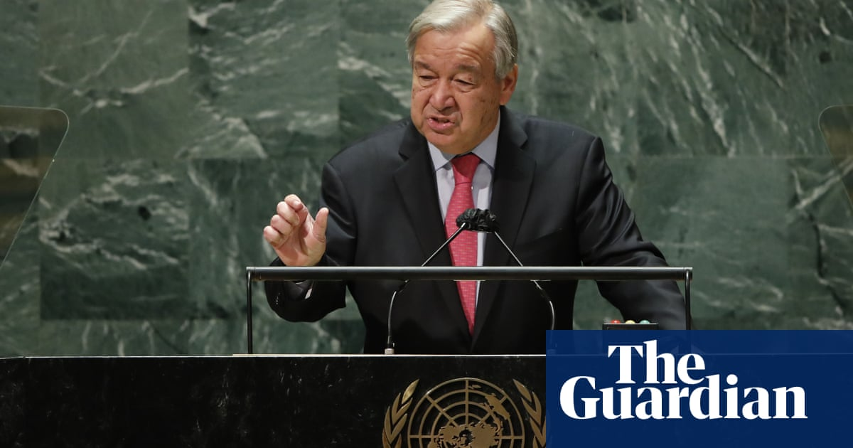 'The world must wake up': António Guterres 'sounds the alarm' in UN speech – video