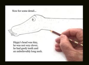 2 - Dippy how to draw dinosau