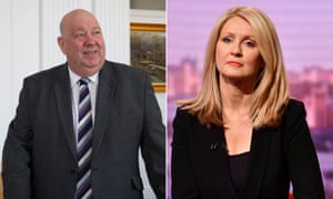 Joe Anderson, the mayor of Liverpool, and the Tatton MP Esther McVey.