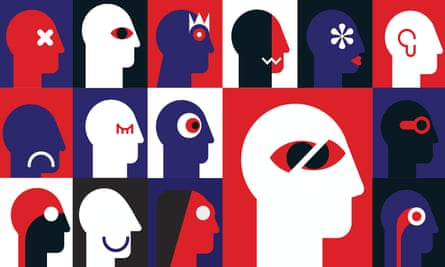 illustration: numerous cartoon heads in profile with various different features