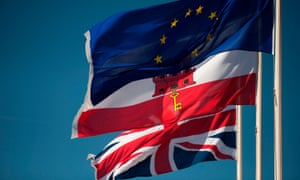 The flags of the EU, Gibraltar and the UK