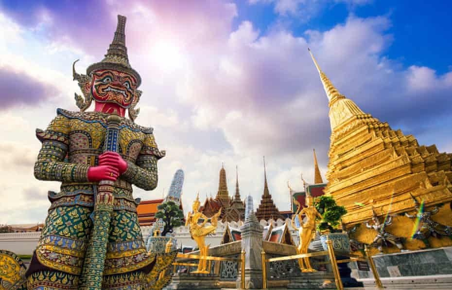 Wat Phra Kaew, or the Temple of the Emerald Buddha, in Bangkok.